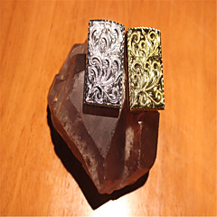 Creative briquets métalliques sculpture trésor de fleurs d'or d'argent