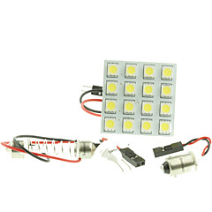 T10  BA9S SV8.5 G4 LED  3W 16X5050SMD LED 160LM  Blue/Red/Warm White/Yellow/White  for Car Light Bulb  (DC12-16V)