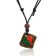 Jewelry Pendant Necklaces Party / Daily / Casual Leather / Ceramic 1pc Women Wedding Gifts
