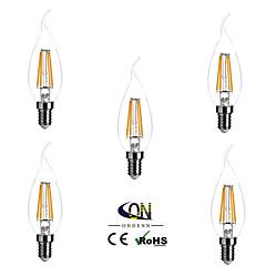 5 pezzi ONDENN E14 4 COB 400 LM Bianco caldo CA35 edison Vintage Lampadine LED a incandescenza AC 220-240 V