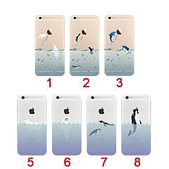 animales del océano ultra-delgada de TPU suave cubierta de la caja para el iphone 5 / 5s (colores surtidos)