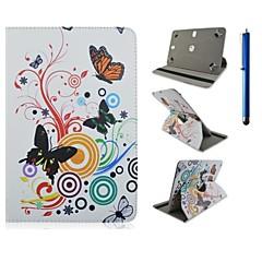 de alta calidad de 360 grados de rotación de cuero de la PU con el caso del soporte de 10 pulgadas tableta universal y pluma