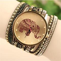reloj de moda pulsera de la PU de cuarzo analógico banda de las mujeres (colores surtidos)