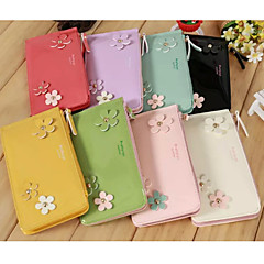 Shining Three Floret Patent Leather PU Leather Mobile Phone Bag for iPhone 4G/4S/5S/5C/6 (Assorted Colors)