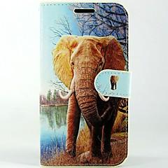 Varten Alcatel kotelo Lomapkko / Korttikotelo / Tuella / Flip / Kuvio Etui Kokonaan peittävä Etui Elefantti Kova Tekonahka Alcatel