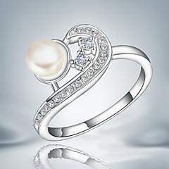 Bandringen Kristal Parel Sterling zilver Kwasten Modieus Zilver Sieraden Bruiloft Feest Dagelijks Causaal 1 stuks