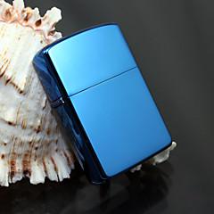 exquise bleu chromé brillant plaqué briquet à pétrole