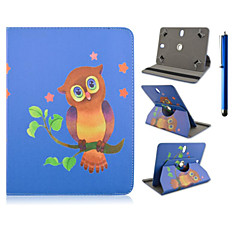 High Quality 360 Degree Rotation PU Leather with Stand Case for 7 Inch and 8 Inch Universal and Pen  Tablet