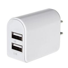 200mA 2 포트 USB 전원 어댑터 / 충전기 (100 ~ 240V / 우리가 플러그)