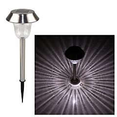 roestvrij staal 1-leiding whte zonne gazon licht pathway tuinlamp