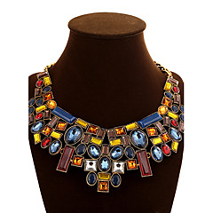 Women's Chain Necklaces Statement Necklaces Crystal Gemstone Alloy Fashion Statement Jewelry Screen Color JewelrySpecial Occasion