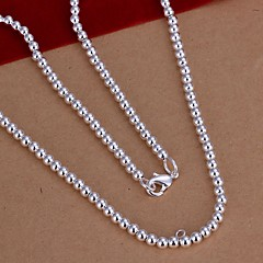 Halsband Kedje Halsband Smycken Bröllop / Party / Dagligen / Casual Sterlingsilver Silver 1st Present