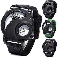 shiweibao a3135 relógios cinto de lona exibição de tempo duplo para homens negros arca watchcase