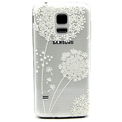White Dandelion Pattern TPU Relief Back Cover Case for Samsung Galaxy S5Mini