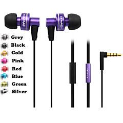 äkta awei 900i hörlurar 3.5mm i hörselgången super bas med mikrofon fjärrkontroll för samsung s4 s5 s6 (blandade färger)