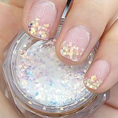 GradientRamp Hexagonal Glitter Tablets Nail Art Decorations