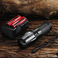 LED Flashlights / أضواء فلاش يدوية LED 5 طريقة 2200 شمعة Nonslip grip Cree XM-L T6 18650 / AAA / 26650Camping/Hiking/Caving / Everyday