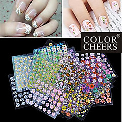 Hot Sale!!50 Mixs Floral Design 3D Nail Art Stickers