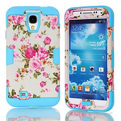 k modeller dekal vit blomma TPU och pc material trippel telefon skal för Samsung S4 i9500 (blandade färger)