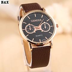 Men's Fashion Big Dial  Quartz Analog Leather Band Business Wrist Watch(Assorted Colors)