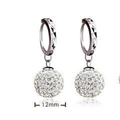 Sterling Silver Earring Drop Earrings Wedding/Party/Daily/Casual (1pair)