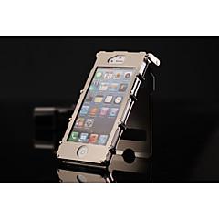dual-janela com caso de corpo inteiro projeto rebite metal com Suporte para iPhone 5s / 5
