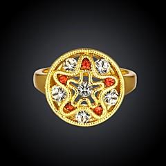 Ms Zirconium Drill 18 K Rose Gold Ring