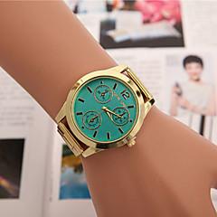 женская случай круглый циферблат сплава часы модного бренда кварцевые часы (более имеющийся цвет)