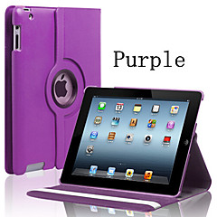 Embossed PU Leather 360º Swivel Bracket Type Flat Leather Suitable for ipad mini1 2 3 (Assorted Colors)