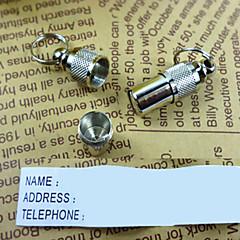 Koty / Psy Metki / Zawieszki identyfikacyjne Bezpieczeństwo Stały Silver Aluminium