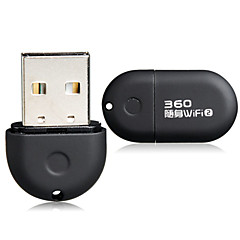 360 Carry-on WiFi 2nd Generation 150Mbps Mini Wireless USB 2.0 WiFi Network Adapter Wireless Router