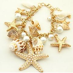 Women's Casual Starfish Seashell Charm Bracelet