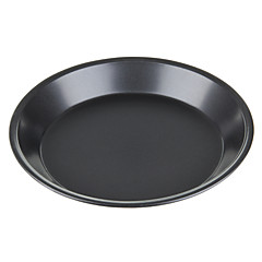 Baking Mould Circle Solid Bottom Non-Stick Pizza Pan for Oven - Deep Gray