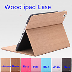 UV Plane Inkjet Wood Quality PU Leather Tablet Shell Protective Holster for Ipad2 3 4 (Assorted Colors)