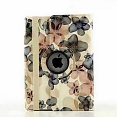 9.7 inch 360 graden rotatie perzik bloesem patroon met standaard geval voor ipad lucht 2 / ipad 6 (diverse kleuren)