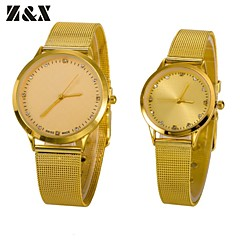 Couple's Fashion Full Diamond Number Quartz Analog Steel Belt Wrist Watch(Assorted Colors)