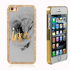 inspirer la conception hybride de luxe bling paillettes brillent avec étui cristal strass pour iphone 5 / 5s