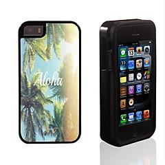 aloha conception 2 en 1 armure hybride complet du corps à double couche choc protecteur mince affaire pour iPhone 5 / 5s