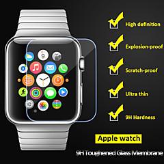 beittal® 0,26 χιλιοστά στρογγυλεμένο άκρο διαφανή 9η σκληρυμένο γυαλί προστατευτικό οθόνης για το ρολόι της Apple (38 42 χιλιοστά)
