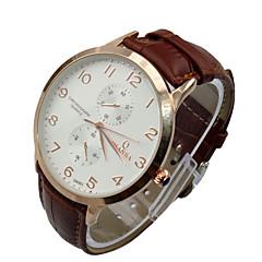 alta qualità orologi di vestito da marca di moda casual banda in vera pelle di quarzo analogico per gli uomini 30m uomo impermeabile
