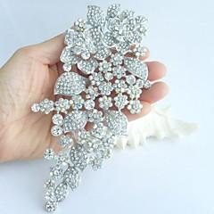 Wedding Accessories Silver-tone AB Clear Rhinestone Crystal Bridal Brooch Wedding Deco Bridal Bouquet Wedding Brooch