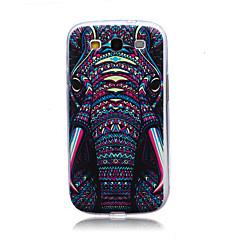 odjuret elefanthuvud mönster TPU mjuk baksida täcker fallet för Samsung Galaxy S3