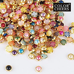 100PCS Colorful Pearl Metal Lipping Nail Art Decorations