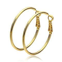 Store øreringe Gyldent Guld Smykker 2 Stk.
