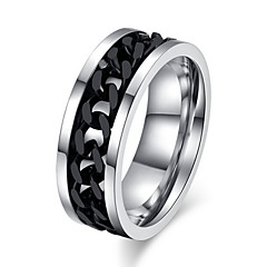 Classic Rotating chain Men's  Titanium Steel Rings(As Picture)(1 Pc)