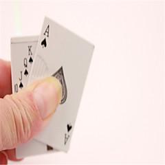 kreativní hrací karta kov odolný proti větru butan zapalovač různé barvy