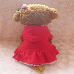 Perros Vestidos Rojo Invierno Clásico