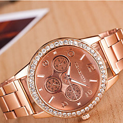 Couple's Round Dial Case Alloy Watch Brand Fashion Quartz Watch(More Color Available)