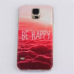rød sky mønster TPU myk telefon tilfelle for Galaxy S3 / S4 / S5