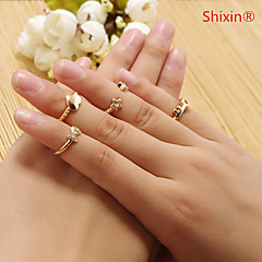 Shixin® Alloy Ring Band Rings Daily/Casual 1set